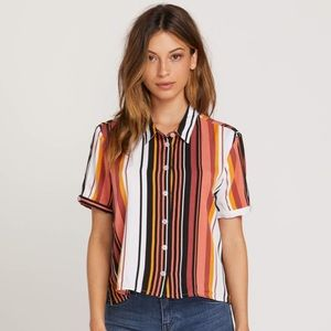 Volcom Aloha Ha Striped Button Up